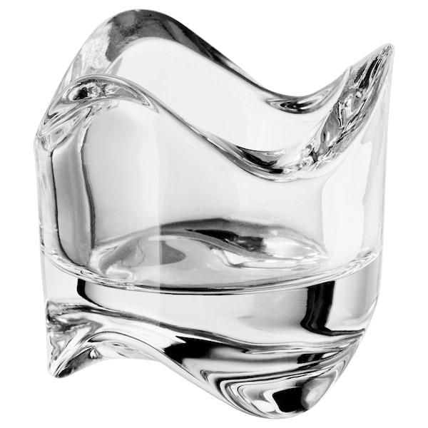 VÄSNAS Theelichthouder, helder glas, 6 cm