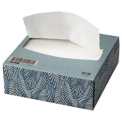 VATTENDANS Papieren servet, blauw, 16x32 cm