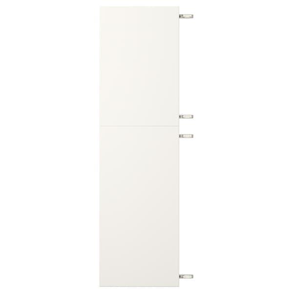 VEDDINGE Dubbele deur met scharnieren, wit, 40x140 cm