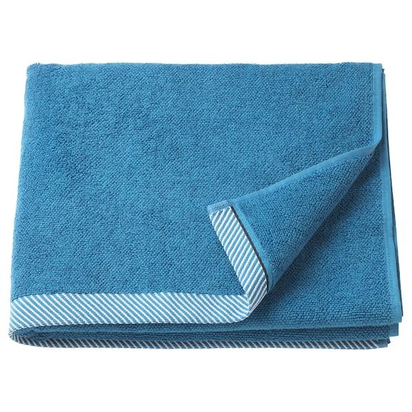 VIKFJÄRD badhanddoek blauw 140 cm 70 cm 0.98 m² 475 g/m²