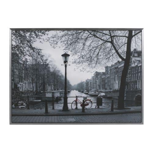 Vilshult ingelijste afbeelding ikea - Tableau ikea noir et blanc ...