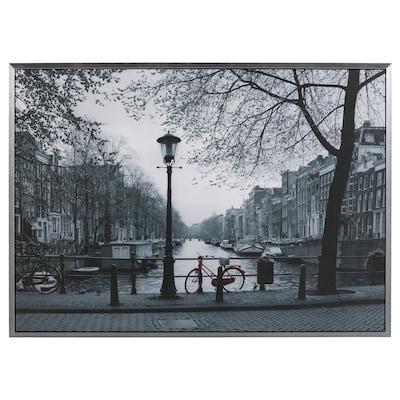 VILSHULT ingelijste afbeelding Amsterdam 140 cm 100 cm