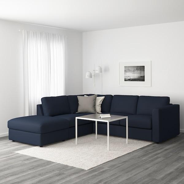 VIMLE Hoekbank, 4-zits, met open eind/Orrsta zwartblauw