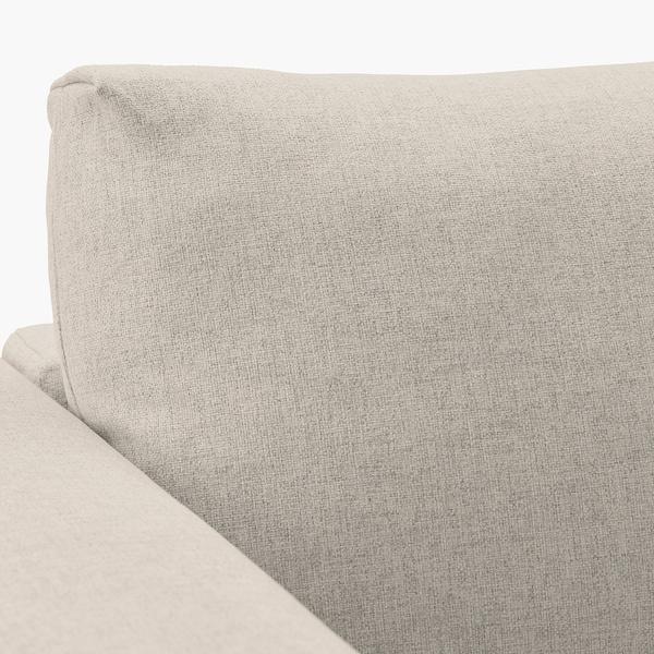 VIMLE Hoekbank, 5-zits, met chaise longue/Gunnared beige