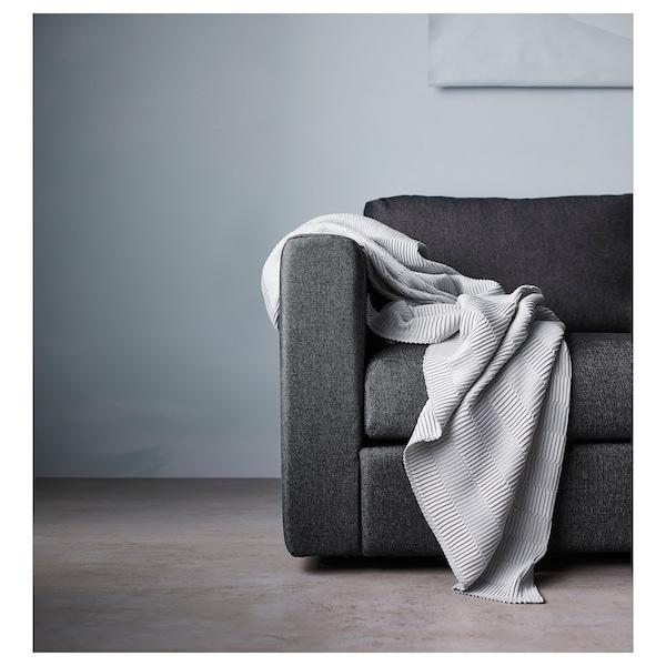 VIMLE Hoekbank, 5-zits, met chaise longue/Tallmyra zwart/grijs