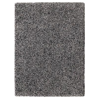 VINDUM Vloerkleed, hoogpolig, donkergrijs, 133x180 cm