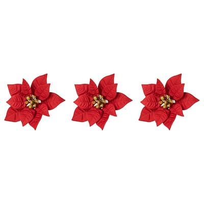 VINTER 2020 Decoratie, kerstster rood