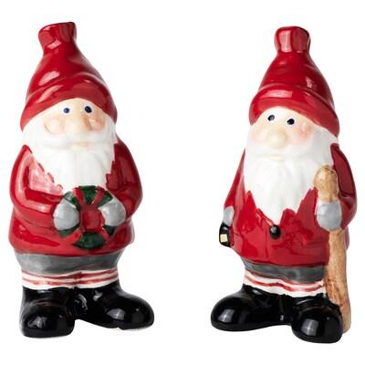 VINTER 2020 Decoratie set van 2, kerstman rood