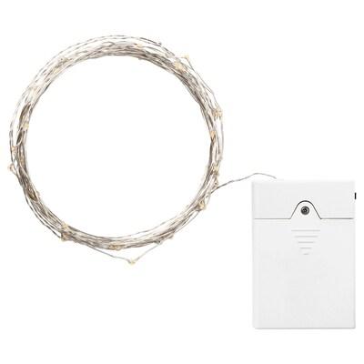 VISSVASS led-lichtsnoer 80 lampjes binnen/op batterijen zilverkleur 1 m 10 cm 0.4 W 8.9 m