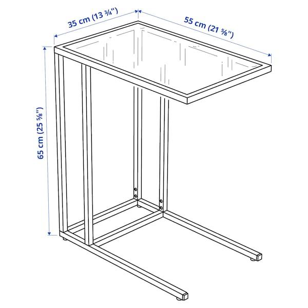 VITTSJÖ Laptophouder, zwartbruin/glas, 35x65 cm