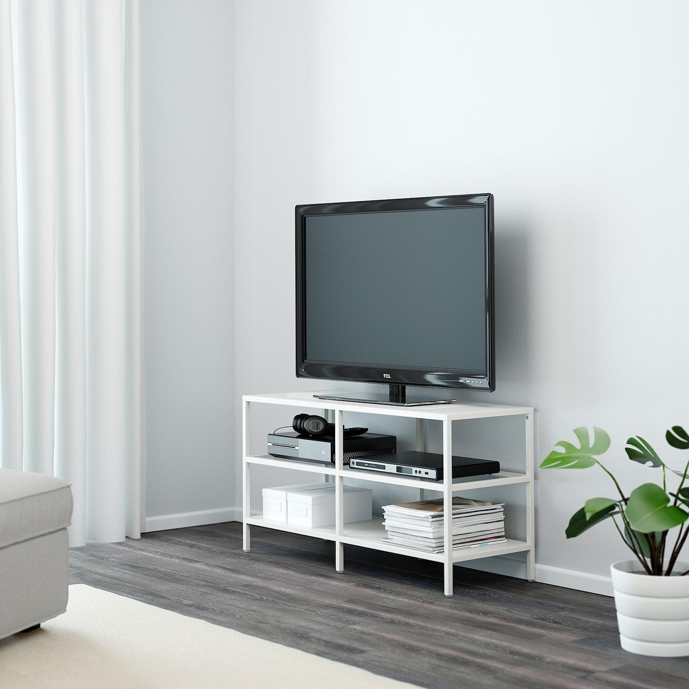 Hoek Tv Meubel Glas.Vittsjo Tv Meubel Wit Glas 100x36x53 Cm Ikea