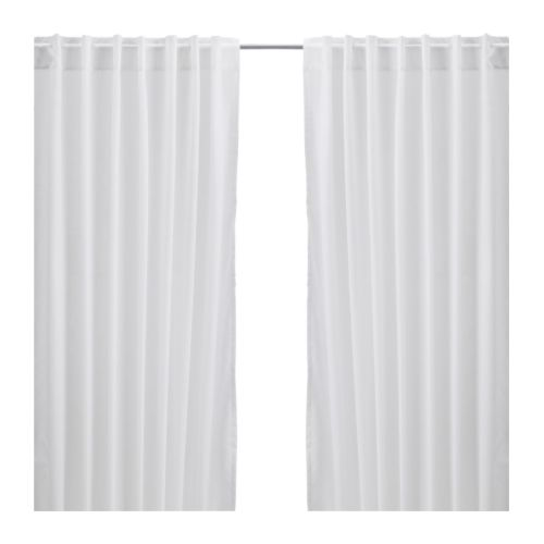 Keuken Gordijnen Ikea : IKEA White Curtain Panels