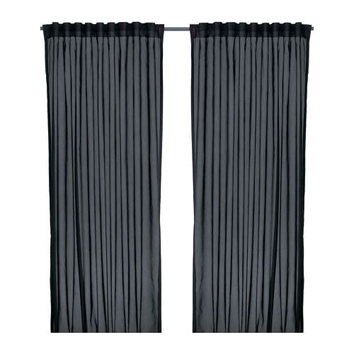 Keuken Gordijnen Ikea : Black IKEA Vivan Curtains