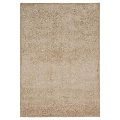 VONGE Vloerkleed, hoogpolig, beige, 133x195 cm