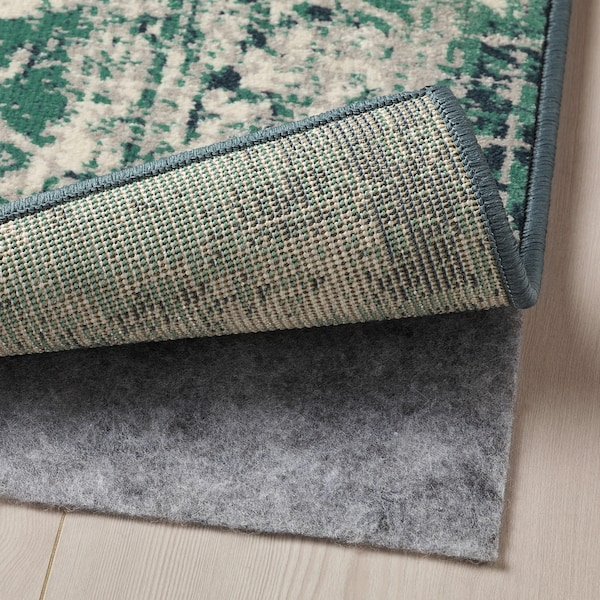 VONSBÄK Vloerkleed, laagpolig, groen, 133x195 cm