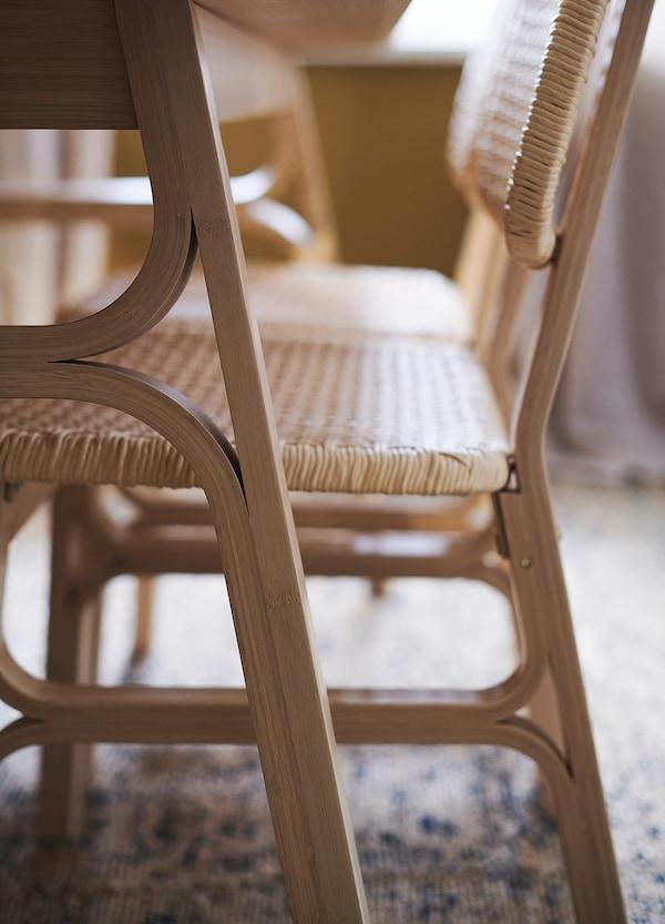 VOXLÖV Eetkamerstoel, licht bamboe