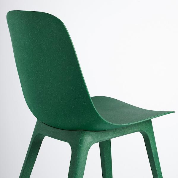 VOXLÖV / ODGER Tafel en 4 stoelen, bamboe/groen, 180x90 cm