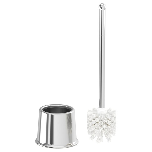 VOXNAN toiletborstel chroompatroon 38 cm 12 cm