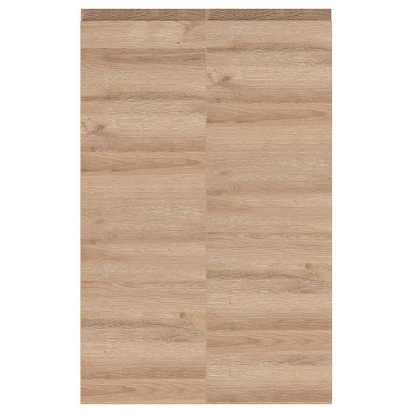 VOXTORP Deur onderhoekkast, 2-delig, links gemonteerd/eikenpatroon, 25x80 cm