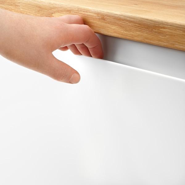 VOXTORP Deur onderhoekkast, 2-delig, rechts gemonteerd mat wit, 25x80 cm