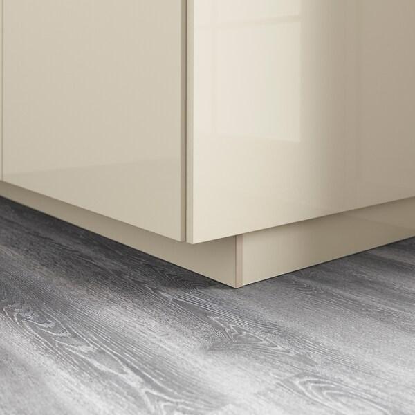 VOXTORP Plint, hoogglans lichtbeige, 220x8 cm