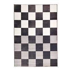 Vloerkleed, laagpolig, grijs/wit, VRÅBY