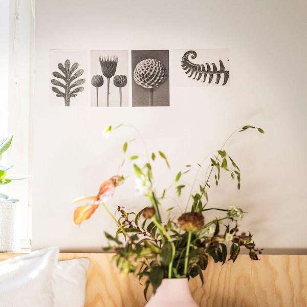 YLLEVAD Kunstkaart, botanische details, 10x15 cm