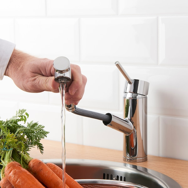 YTTRAN Keukenmengkraan&uittrekb sproeikop, verchroomd