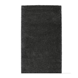 ÅDUM teppe, lang lugg, mørk grå