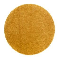 ÅDUM teppe, lang lugg, gul