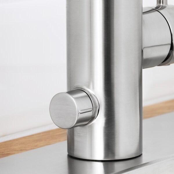 ÄLMAREN Blandebatt. m/vannstengeventil, rustfritt stålfarge
