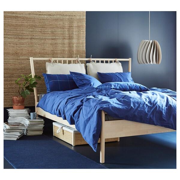 ÄNGSLILJA enkelt sengesett mørk blå 125 /inch² 1 stk. 200 cm 150 cm 50 cm 60 cm