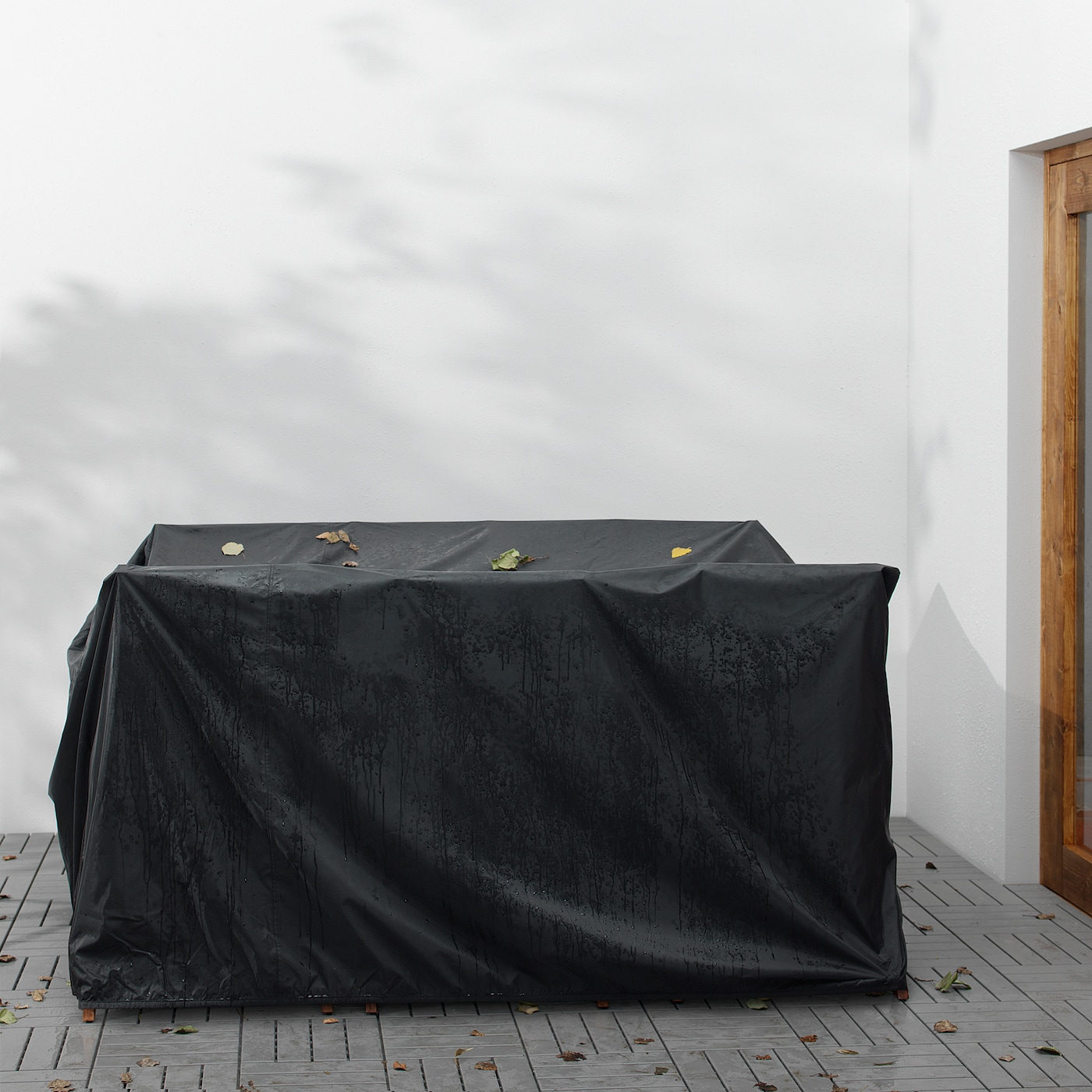 ÄPPLARÖ Bord + 6 regulerbare stoler, utend, brunbeiset/Frösön/Duvholmen beige