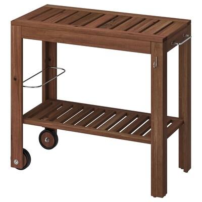 ÄPPLARÖ Trillebord, utendørs, brunbeiset, 85x44 cm