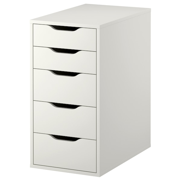 ALEX Skuffeseksjon, hvit, 36x70 cm