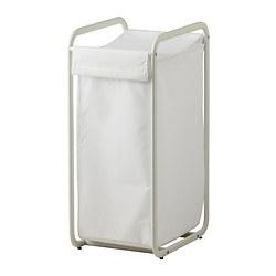 ALGOT Oppbevaringssekk med stativ, hvit
