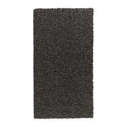 ALHEDE teppe, lang lugg, svart