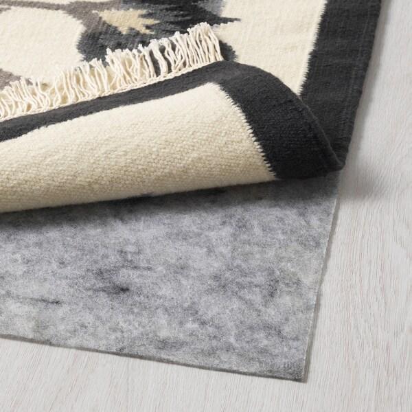 ALVINE teppe, flatvevd håndlaget grå 240 cm 170 cm 4 mm 4.08 m² 1500 g/m²