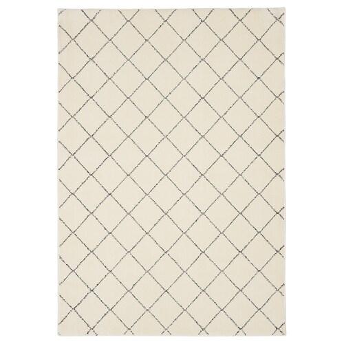 ARNAGER teppe hvit/beige 200 cm 140 cm 2.80 m²
