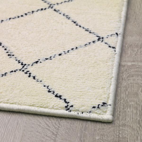 ARNAGER Teppe, hvit/beige, 140x200 cm