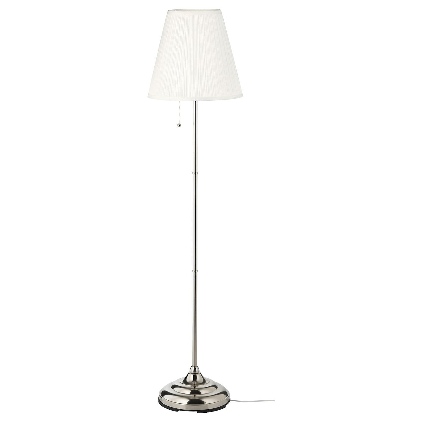 197 Rstid Gulvlampe Forniklet Hvit Ikea