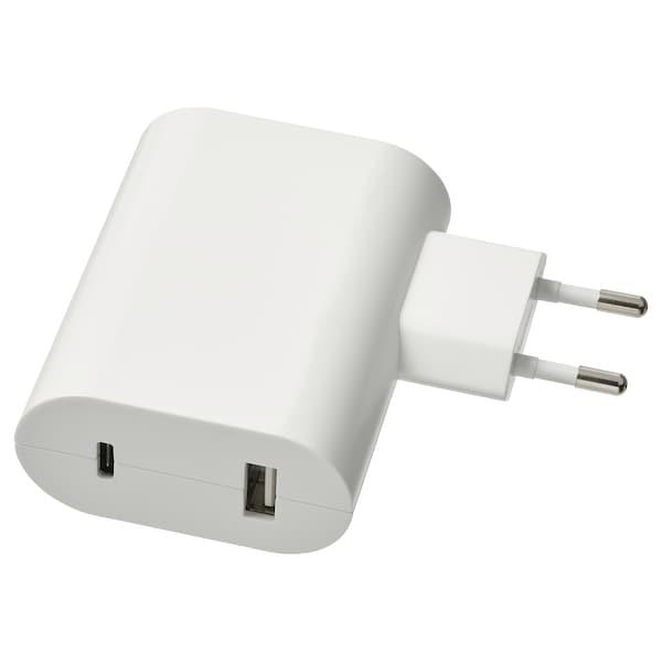 ÅSKSTORM 23 W USB-lader, hvit