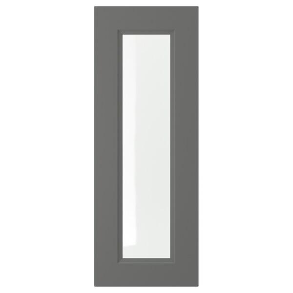 AXSTAD vitrinedør mørk grå 29.7 cm 80 cm 30 cm 79.7 cm 2.0 cm
