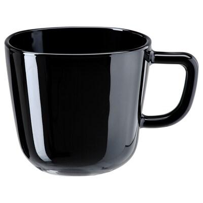 BACKIG Krus, svart, 37 cl
