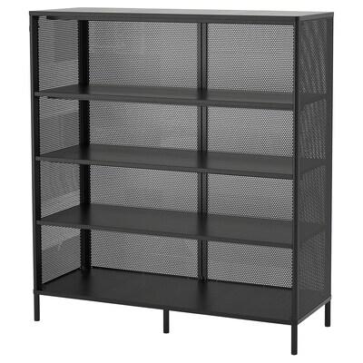BEKANT Hylle, svart, 121x134 cm