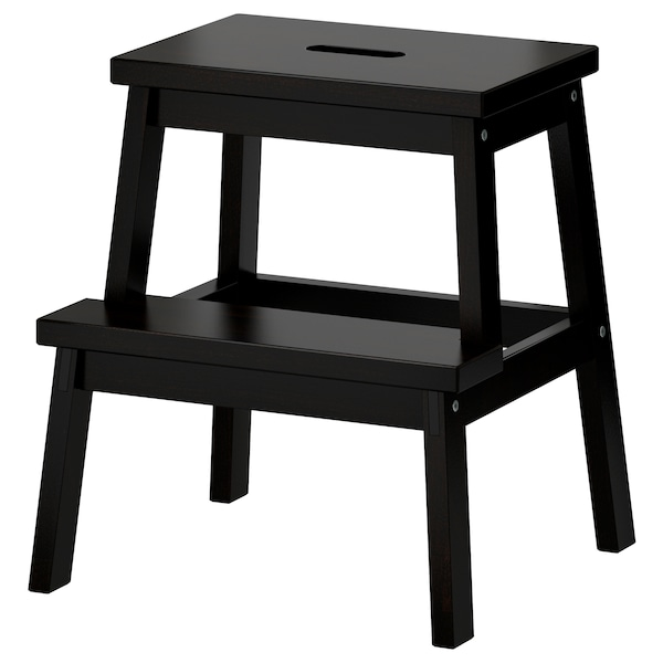 BEKVÄM Trappestige, svart, 50 cm