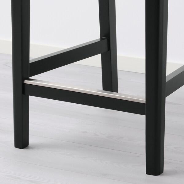 BERGMUND Barstol, svart/Glose svart, 62 cm