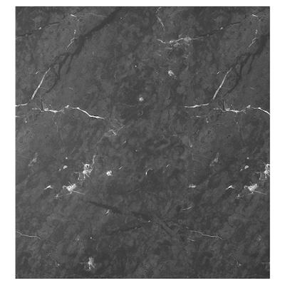 BERGSVIKEN Dør, svart marmormønstret, 60x64 cm