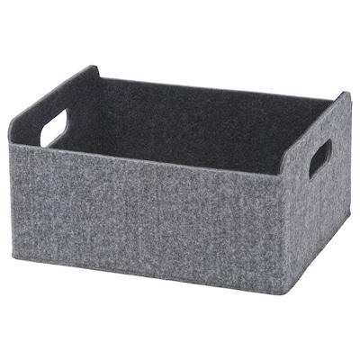 BESTÅ Boks, grå, 25x31x15 cm