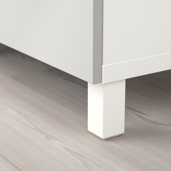 BESTÅ / EKET Skapkombinasjon for TV, hvit/mørk grå/lys grå, 210x40x220 cm